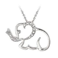 I only have a couple pieces of elephant jewelry, but I'm growing a lot more fond of them lately. This necklace is gorgeous.