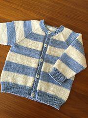 Knitted Raglan Cardigan, sizes 1, 2 & 3 Free Knitting ...