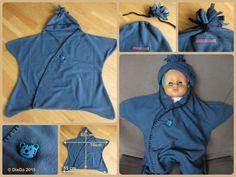 Baby Einschlagdecke Stern 0-6 Monate (nur 1 Naht), star baby wrap