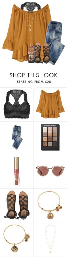 """""""Had my first vb tournament this weekend!"""" by pineappleprincess1012 ❤ liked on Polyvore featuring Free People, MANGO, Sonia Kashuk, Oliver Peoples, Billabong, Alex and Ani and Michael Kors"""