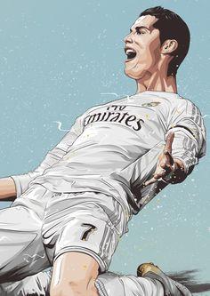 Dreams on Behance Messi Y Ronaldinho, Messi Vs, Cristiano Ronaldo Juventus, Hot Football Fans, Football Art, Arsenal Football, Football Posters, Football Player Drawing, Portrait Vector