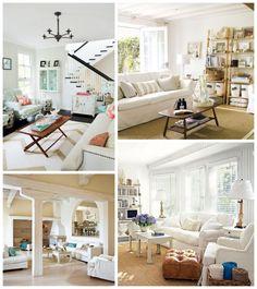 Coastal Chic Living Room Slipcovered couches white emily thorne inspired living room