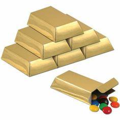 Amazon.com: Foil Gold Bar Favor Boxes Party Accessory (1 count) (12/Pkg): Toys & Games #Minecraft