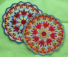 Crochet superposición Mandala Nº 1 patrón PDF por CAROcreated