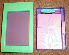 Barbie Fashion Plates Rub Coloring Maker Crayon Rub Plate Set