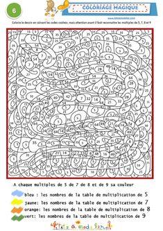 Voiture color by number pinterest voitures - Table de multiplication en ligne gratuit ...