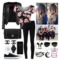 """""""We always find a way back home"""" by chocolate2000 ❤ liked on Polyvore featuring Ström, Boohoo, Converse, Chanel, The Horse, Robert Lee Morris, PhunkeeTree, Ray-Ban and Jewel Exclusive"""