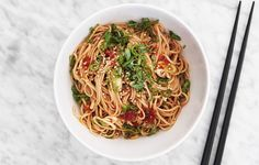 This easy, chilled soba noodle salad with a spicy-nutty sauce is your new go-to work lunch.