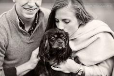© Nicole Dixon Photographic Columbus Ohio Outdoor Engagement Session dog