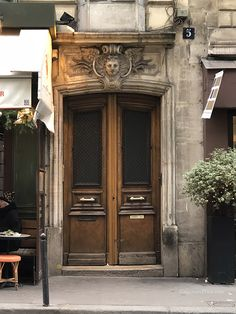 Every doorway, every intersection has a story. Unique Doors, Industrial House, Paris, Color Of The Year, Pantone Color, Wood Doors, Doorway, Tall Cabinet Storage, Around The Worlds