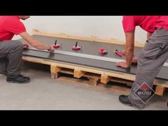 How to cut large tiles with - RUBI Slim system cutter - Como cortar ceramica de gran formato - YouTube
