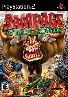 Video Game Nintendo Wii Rampage Total Destruction Complete with Case and Manual… Playstation 2, Xbox, Gamecube Games, Wii Games, Games Box, San Andreas, Dwayne Johnson, Video Game Art, Games