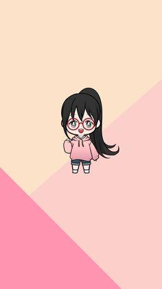 Chibi Wallpaper, Kawaii Wallpaper, Cute Wallpaper Backgrounds, Cute Cartoon Wallpapers, Iphone Wallpapers, Disney Drawings Sketches, Girly Drawings, Girl Cartoon, Cartoon Art