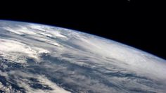 Clouds getting ripped apart by cyclone Hudhud near India. October 10, 2014