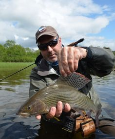 Fishing the Upper Glomma river in Norway for grayling, trout and pike. Guided fishing trips with Philippe Dolivet, internationally renowned fly fishing guide.