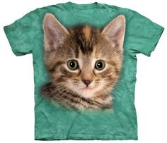 """Officially Licensed Humane Society /""""Sweet Kitten/"""" White Fitted T-Shirt"""