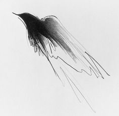 """Megan Wolfe - """"Small Wraith #2"""" pencil on paper"""