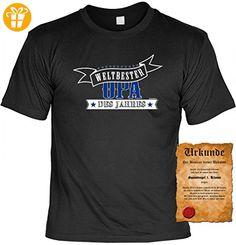 T-Shirt für den Großvater - Weltbester Opa des Jahres - witziges Geschenk Vatertag - Sprüche Shirt und gratis Urkunde, Größe:S (*Partner-Link)