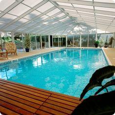Cool indoor pool