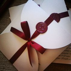 """A #morning with waxsealed #invitations #customdesign from www.violet-bg.com…"