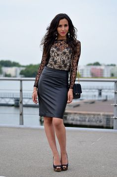 cfd01108a 31 best Pencil Skirt street style images in 2013 | Pencil skirts ...