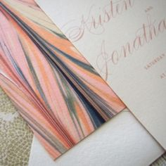We are recapturing the lost art of marbling with some wedding inspiration  ✈ Photo by Orange Beautiful
