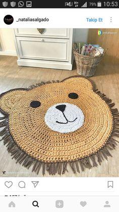 DIY crochet projects, crochet home decor ideas, cr Crochet Diy, Crochet Home Decor, Crochet Bear, Crochet For Kids, Crochet Animals, Crochet Dolls, Crochet Rugs, Crochet Mignon, Bear Rug