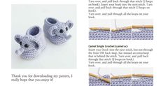 Ellie The Elephant Baby Booties - Crochet Pattern.pdf