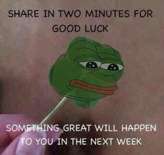 the good luck pepe