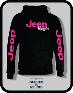 Jeep Glitter Hoodie by GlitternStones on Etsy