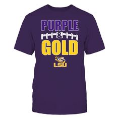 """Football Laces - LSU Tigers T-Shirt, LSU TIGERS OFFICIAL APPAREL This Limited Run Design Will Not Last Long. Check your size by clicking on """"Buy It Now"""". 100% Designed & Printed in the USA!  The LSU Tigers Collection, OFFICIAL MERCHANDISE  Available Products:          Gildan Unisex T-Shirt - $24.95 Gildan Women's T-Shirt - $26.95 District Women's Premium T-Shirt - $29.95 Next Level Women's Premium Racerback Tank - $29.95 Gildan Unisex Pullover Hoodie - $44.95 Gildan Long-Sleeve T-Shirt…"""
