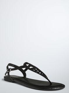 3b6950e0175 Cutout T-Strap Sandals (Wide Width)