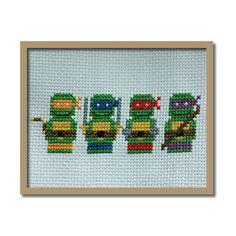 Teenage Mutant Ninja Turtles Original Counted Cross Stitch