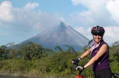 Single-Track Mountain Bike Tour in Arenal Volcano 			Challenge yourself on this half-day mountain-bike tour near the base of Arenal Volcano. On an intense 12-mile (19-km) single-track trail, follow an expert guide through breathtaking rainforest and pasture landscapes. Barrel across rivers and mud puddles, and capture spectacular views of the formidable volcano and tropical wildlife along the way. Stop halfway for a refreshing snack break before finishing your gripping, unforg...