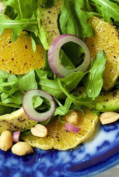 Orange and Avocado Salad with Peanut-Hoisin Dressing - fresh and delicious with sweet oranges, creamy avocado, crunchy peanuts and the most delicious sweet-salty-spicy dressing. You'll want to pour it over everything!