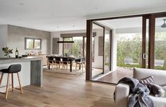 Sahara Series - Double Storey New Home Designs Open Plan Kitchen Dining Living, Open Plan Living, Interior Design Gallery, Home Interior Design, Küchen Design, House Design, House Extension Design, New Home Designs, Home Deco