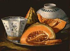 Cristoforo Munari Still Life with Melon Late 17th - Early 18th century
