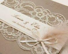 cards using lace--Modern Bride: Vintage henkinen kutsukortti!