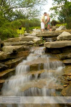 Inniswood Engagement Session Photos with waterfall