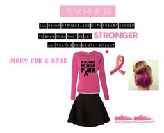 """""""FIght For A Cure"""" by ashtonirwin1234 ❤ liked on Polyvore featuring Estée Lauder, Neil Barrett and Converse"""
