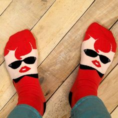 Chatty Feet makes fun socks for women + kids with a British wink