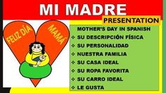 """This Mothers Day lesson is a great way to summarize your students strengths and celebrate Mother's Day in your class.  """"T con Mam   is a great idea to share with parents the oral progress of students in your classroom.  Great Idea for AP Spanish and Spanish II classes and higher level Spanish I courses."""