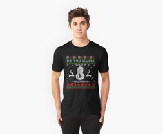 Snowman-ugly Christmas sweaters by FunnyMusicNotes