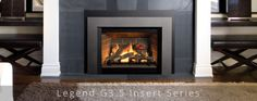 The Insert - Clean trims and a large viewing area highlight warm, glowing flames within. Valor Fireplaces, Natural Gas Fireplace, Warm, Cool Stuff, Fireplace Ideas, Highlight, Home Decor, Lights, Highlights