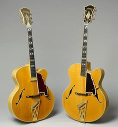 D'Angelico guitars (New Yorker, 58 and 59).