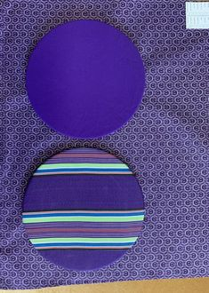 Purple shwe shwe with purple Venda stripe base plates Out Of Africa, African, Base, Plates, Mood, Traditional, Purple, Home Decor, Licence Plates