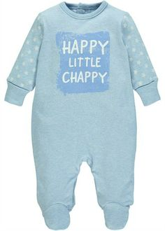 Boys Little Chappy Slogan Sleepsuit (Tiny Baby-18mths)
