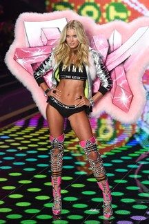 """Elsa Hosk """"Before the show I do a lot of boxing and this class called Flybar which is great for toning, tightening, lengthening - a good complement to boxing as that's high-intensity cardio."""""""