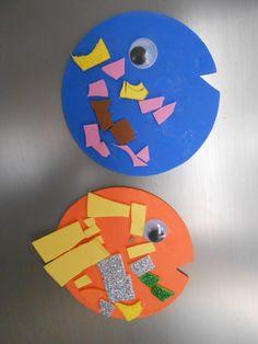Manualidades: peces magnéticos. Cumpleaños submarino Submarine Birthday Party - Inma Torrijos