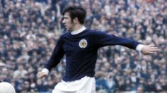 John Greig in action for Scotland in 1969.